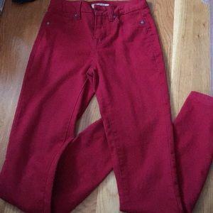 Pants - Dark red jeggings